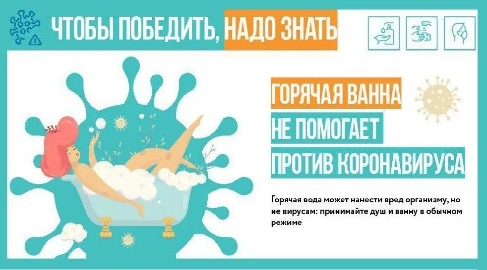 Горячая ванна бесполезна в борьбе с коронавирусом