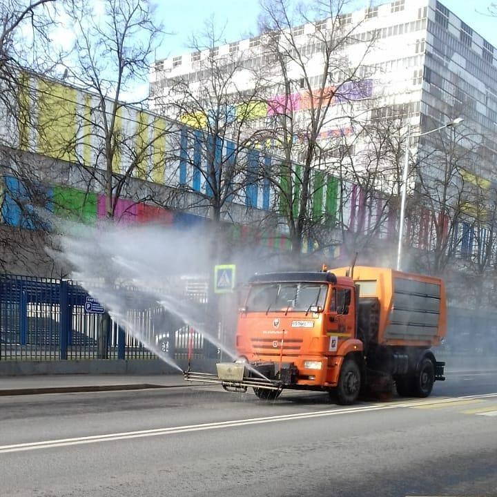 Большая дезинфекция общественных пространств вновь прошла в Останкине